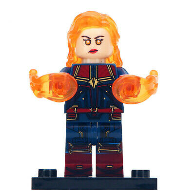 Captain Marvel (End Game) - Marvel Avengers Lego Moc Minifigure Gift For Kids