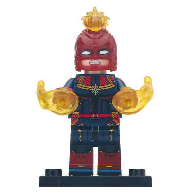 Captain Marvel Avengers - Marvel End Game Lego Moc Minifigure Gift For Kids