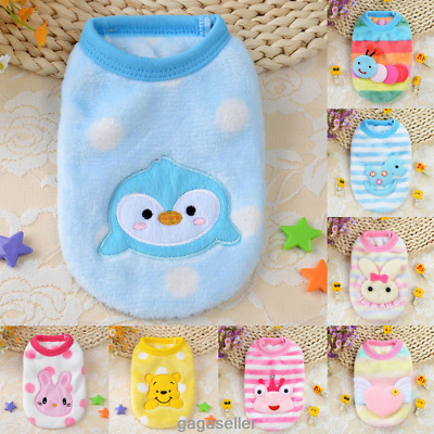Small Dog Teacup Chihuahua Cartoon  Warm Costumes Pet Puppy Vest Dog Clothes