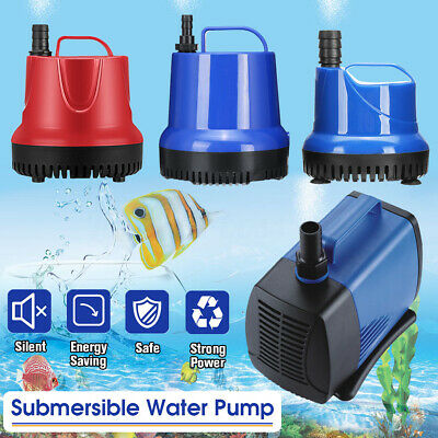 220-5000L/H Submersible Spout Water Pump Aquarium Fish Pond Tank Fountains 🔥