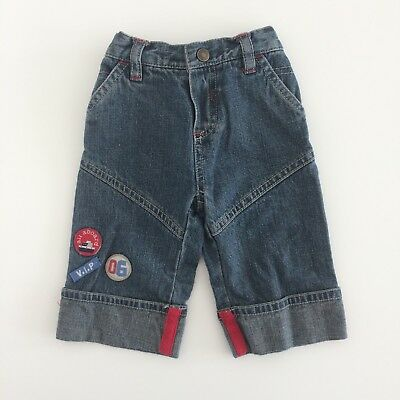 Baby Boys MOTHERCARE Wide Leg Casual Blue Jeans Size 3-6 Months