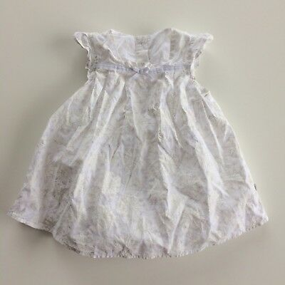 Baby Girls MOTHERCARE White Floral Bodysuit Dress Size 0-3 Months