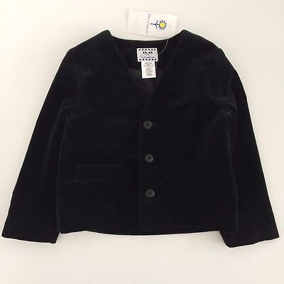 Boys Vintage FLORENCE EISEMAN Black Velvet Special Occasion Jacket Size 4 Years