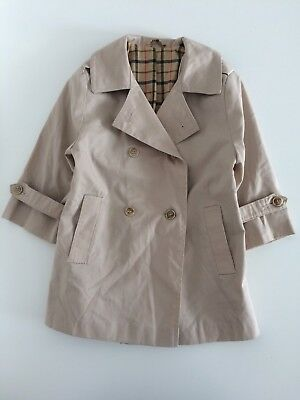 Baby Girls Vintage MOTHERCARE Beige Mac Jacket Size 18-24 Months