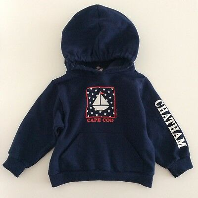 Baby Boys Toddlers Chatham T Co Cape Cod Navy Hoodie Jumper Size 18 Months