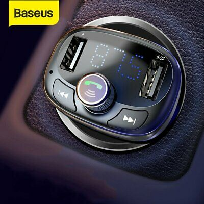 Baseus Wireless Bluetooth USB Car Charger FM Transmitter Handsfree MP3 Player