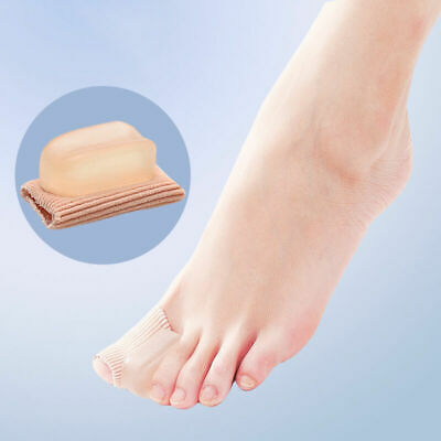 1x Silicone Gel Toe Separator Spacer Straightener Relief Foot Bunion Pain Gift