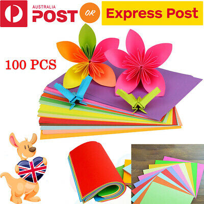 100pcs Square Colored Origami Folding  Paper DIY Crafts Tools 15X15CM 10 Colors