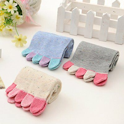 1 Pair Women Soft Warm Cotton Sock Casual Five Toes Trainer Toe Ankle Socks gv