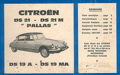 "Revue technique diesel RTA - CITROEN DS 21 DS 21M ""PALLAS""  DS 19A - 1967 -"