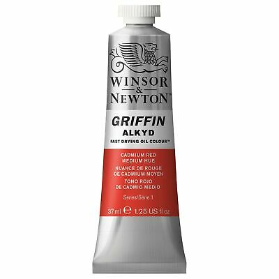 Winsor & Newton Griffin 37ml Alkyd Fast Drying Oil Colour Tube - Cadmium Red ...