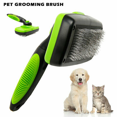 Self Cleaning Pet Dog Cat Slicker Brush Grooming For Medium and Long Haired Pets