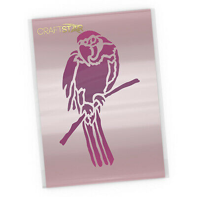 Parrot Stencil - 15 x 24 cm Tropical Bird Template by CraftStar
