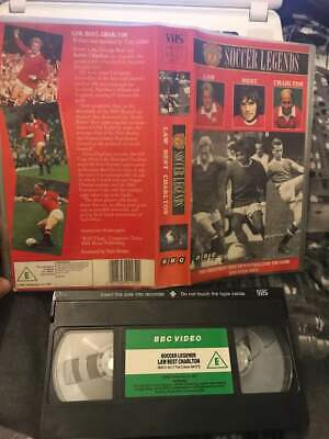 Soccer Legends Law Best Charlton VHS Tape Manchester United Football Club