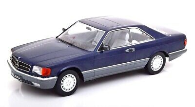 Mercedes Benz 560 Sec C126 Blue Metallic 1980 KK SCALE 1:18 KKDC180333 Model