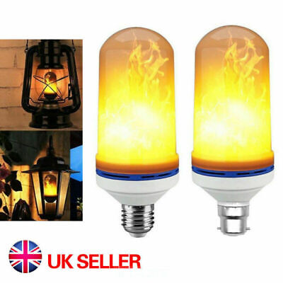 6.5W LED B22 E27 Burning Light Flicker Flame Bulb Fire Effect UK Lamp Decorative