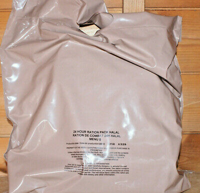 Military ISSUE BRITISH ARMY 24 HOUR RATION PACK MOD RATIONS MRE CAMPING SURPLUS