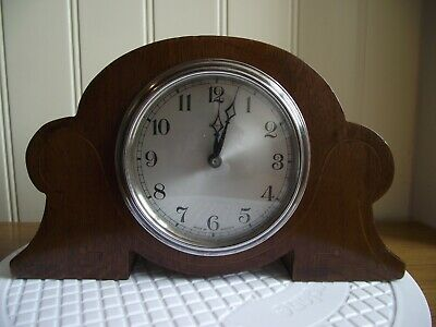 A LOVELY EARLY 20thc FULLY WORKING ART DECO ENFIELD CLOCKWORK MANTLE CLOCK
