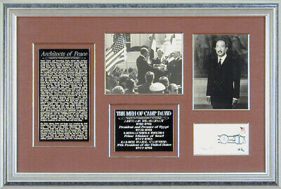 "James E. ""Jimmy"" Carter - Collection With Anwar Sadat (Egypt), Menachem Begin"