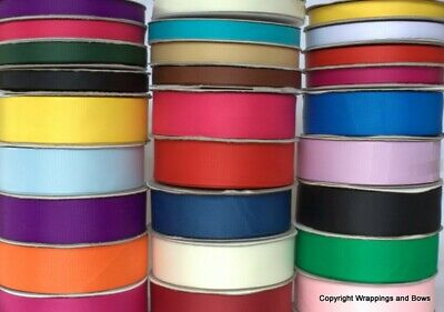Grosgrain Ribbon Cut Lengths 10mm & 25mm wide All Colours 2 mtr / 5 mtr lengths