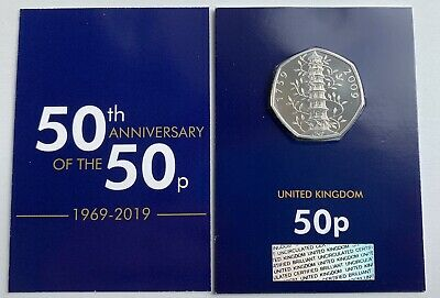 2019 Kew Gardens 50p CERTIFIED Brilliant Uncirculated 50 Years Of The 50p COIN