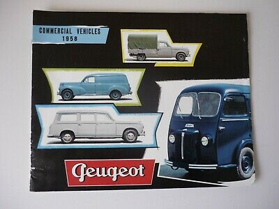 Rare 1958 Peugeot Commercial Vehicles Uk Market Brochure
