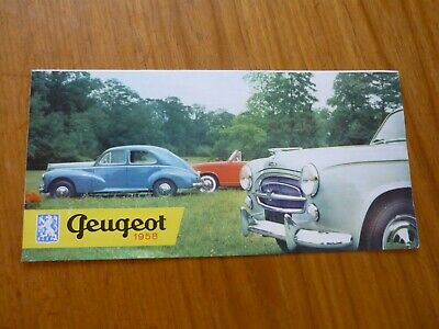Rare 1958 Peugeot Cars & Commercial Vehicles Range Uk Market Brochure