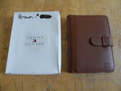 "Nib Tommy Hilfiger 4"" X 6"" Brown Leather Photo Album Holds 40 Pics"
