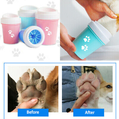Portable Pet Dog Cat Dirty Paw Cleaner Pet Foot Feet Cleaning Brush Cup Washer