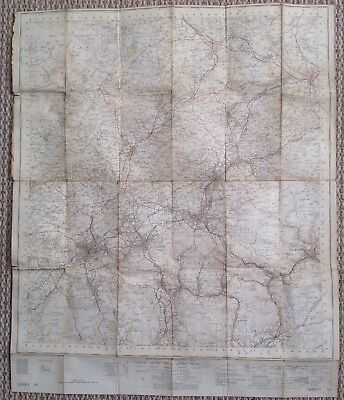 Vintage Ordinance Survey Map Lancs Sheet 95.1 Inch 1953