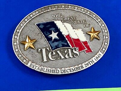 "The  Great State of TX Texas Vintage 4"" Belt Buckle  BBTX1"