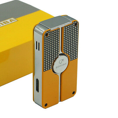 COHIBA Classic 3 TORCH JET FLAME CIGAR CIGARETTE Metal LIGHTER With PUNCH