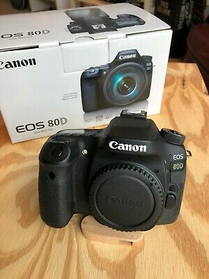Canon EOS 80D 24.2MP Digital SLR Camera - Black (Body Only) Very Lightly Used