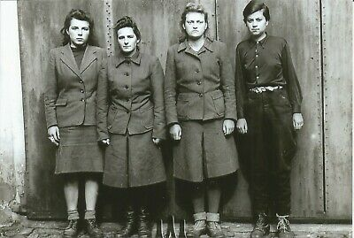 WW II German Photo <>     ..Female Concentration Camps Guards  .