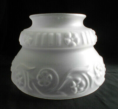 "Antique Satin Glass Lamp/Light Shade~3 7/8"" Fitter X 4 1/2"" H~L"