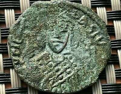 Theophilus 830-842 Ad Ae Follis Uncertain Provincial Mint Ancient Byzantine Coin