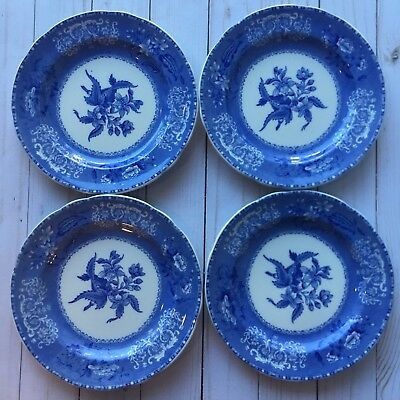 Set of 4 Spode's Camilla Dessert Plates Antique 1880-1920  Kitchen 7.5""