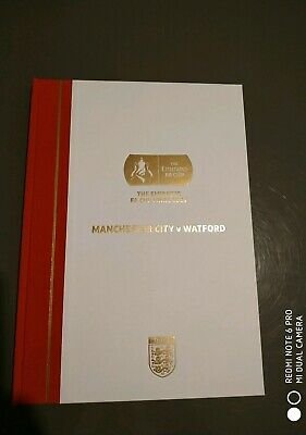 2019 FA Cup Final Man  City Vs Watford special Hard Back Programme . Numbered