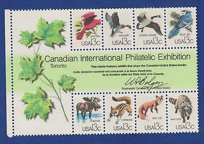 US #1757 a-h CAPEX Souvenir Sheet of 8 stamps Wildlife MNH FREE SHIPPING