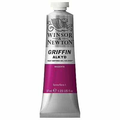 Winsor & Newton Griffin 37ml Alkyd Fast Drying Oil Colour Tube - Magenta Pink