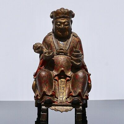 17th-18th Century Polychromed Carved Buddha Statue
