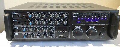New Pyle PMXAKB2000 2000 Watt Bluetooth Stereo Mixer Karaoke Amplifier