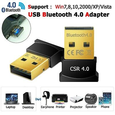 USB Bluetooth 4.0 Dongle Adapter Receiver CSR4.0 for LAPTOP PC WIN7/8/10 XP VIST