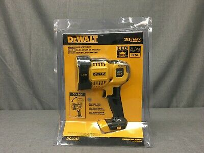 New, Dewalt Dcl043 20V Max Lithium-Ion Cordless Jobsite Led Spotlight Only Tool-