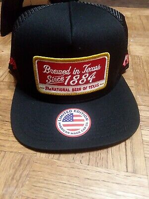 2dbef84f90a18 HOOEY HAT TEXAS Made Lone Star Beer 1884 Patch Hat Black LS004 ...