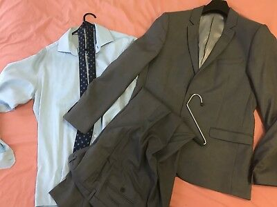 Kenji Slim Fit Suit Set With Pants XL With Tie And Shirt
