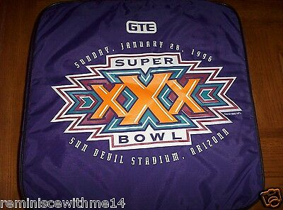 NEW 1996 SUPER BOWL XXX SEAT CUSHION - SUPER BOWL 30 - COWBOYS vs. STEELERS