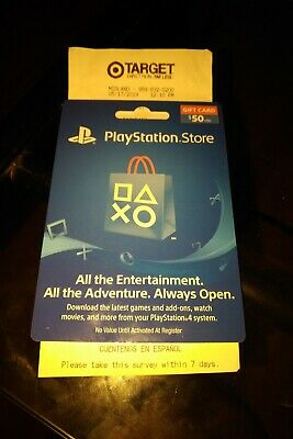 PlayStation Store $50.00usd Gift Card