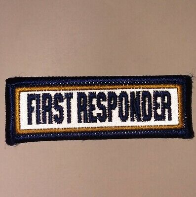 First Responder REFLECTIVE  Patch LAW ENFORCEMENT / POLICE / EMS / FIRE /(small)