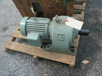 SKK Type AF 3HP Gear Motor Speed Reducer 1:25.73 Ratio 68 RPM Out 60Hz